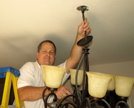 Conejo Valley Lighting Electrical Contractor Hanging Chandelier